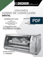 Manual Horno de convección digital Black and Decker
