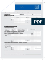 Critical Illness Claim Form