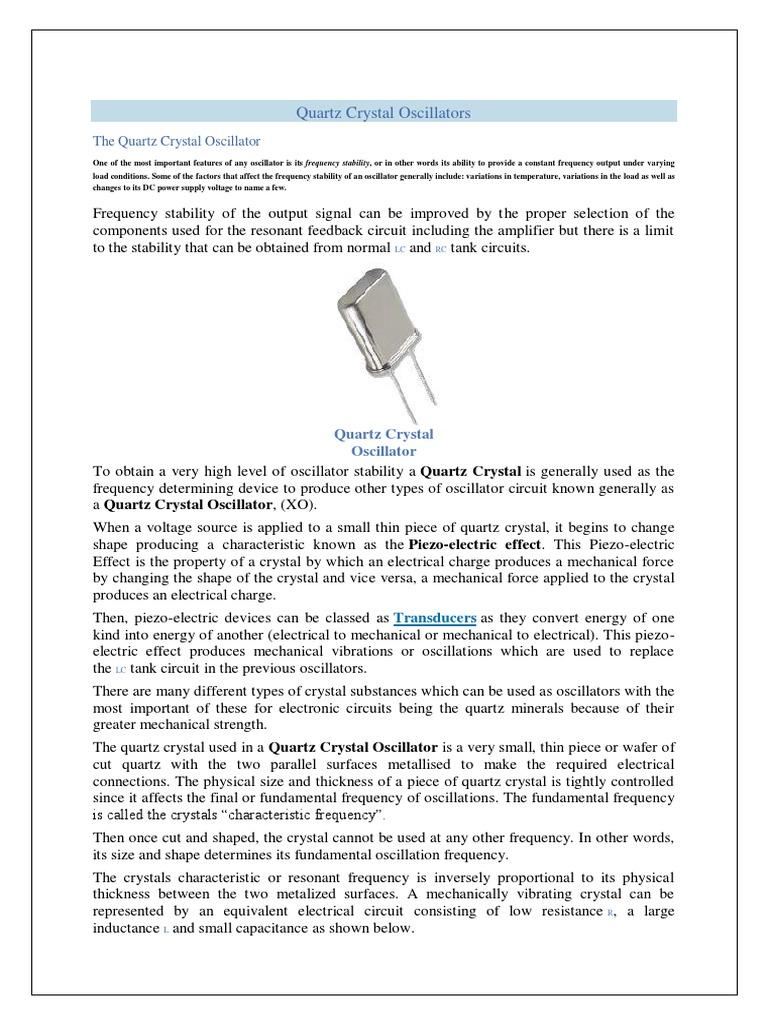 Crystal Oscpdf Electronic Oscillator Amplifier With Cmos Inverter