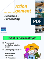 Production management sales forecasting