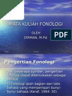 Mata Kuliah Fonologi