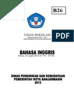 Ujian Sekolah Paket  B 26