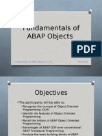 Fundamentals of ABAP Objects