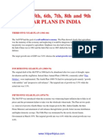 3rd,To 9th Five Year Plan of India