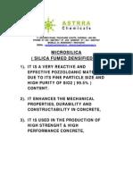 Microsilica Write Up Details 1
