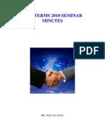 Incoterms 2010 Seminar Minutes