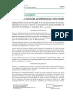 Resueltas Las Ayudas Para La Formación de Tecnólogos 2014
