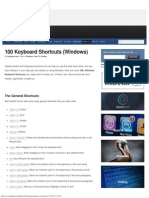 100 Keyboard Shortcuts (Windows)