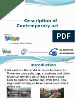 Description of Contemporary Art