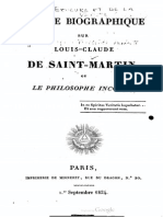 Notice Biographique Sur Louis Claude de Saint Martin