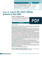 Role of Slag in the Steel Refining Process in the Ladle