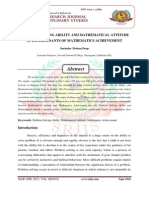 PROBLEM SOLVING ABILITY AND MATHEMATICAL ATTITUDE AS DETERMINANTS OF MATHEMATICS ACHIEVEMENT