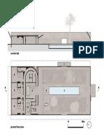 Olgiati Villa Alem Plan and Section