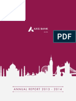 Annual Report for Axis Bank UK Limited 2013 2014