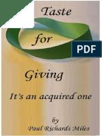 Taste for Giving