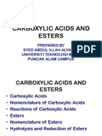 Carboxylic Acids and Esters and Amines New Edition Chm096