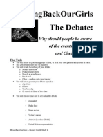 the debate assignment