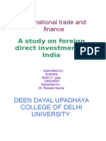 A study on foreign direct investment in India.doc