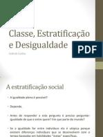 Aula Classe, Estratificação e Desigualdade