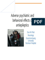 Adverse Psychiatric and Behavioral Effects of Antiepileptics - Excelente Presentacion