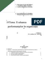 Evaluarea performanţelor angajaţilor