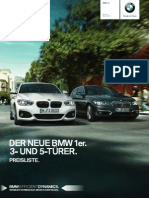 BMW 1er Preisliste 2015