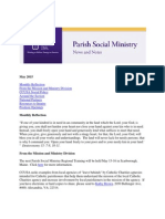 May 2015 CCUSA Parish Social Ministry Newsletter