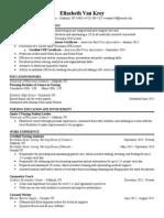 elisabeth van krey resume 2 0