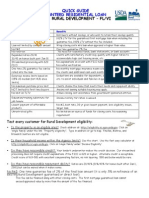 Quick Guide Residential USDA Loan Program