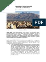 Compromisso de Cochabamba PORTUGUES