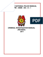 Criminal Investigation Manual