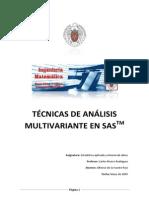 Técnicas de Análisis Multivariante en SAS