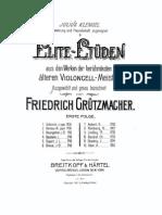 Berteau - Vivace Etude Grutzmacher for Solo Cello