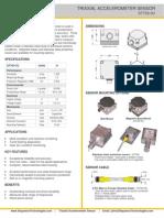 Triaxial Accelerometer Sensor