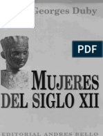 Georges Duby - Mujeres Del Siglo XII