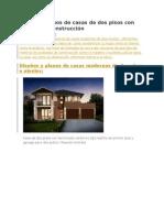 Diseño y Planos de Casas de Dos Pisos Con Ideas Para Construcción