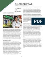 Codes Alimentarius - Control de La Poblacion Con El Pretexto de Proteccion de Las Consumidores