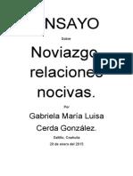 Ensayo Noviazo, Relaciones Nocivas