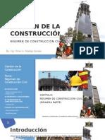 Gestion Construcción - Régimen de Construcción Civil