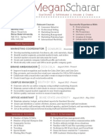 marketing & administrative resume
