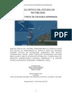 Análisis Estudio Factibilidad Cachuela Esperanza
