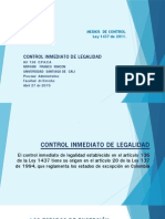Diapositivas Exposicion Medios de Control. Controlinmediato de Legalidad