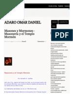 Masones y Mormones - Adaro Omar Daniel