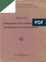 Istruzione per l'Impiego dei materiali di attendamento (5513) 1962