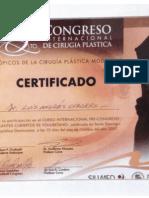 Certificado - 5to Congreso Internacional de Cirugía Plástica