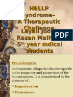 Hellp Syndrome – Therapeutic Challenge