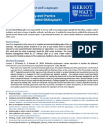 Research Philosophy and Practic- Annotated Bibliography