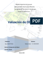 Valuacion de Obras Civiles