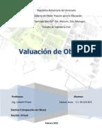 Valuacion de Obras Civiles