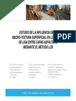 Evaluacion de La Influencia de La Macro Textura Superficial en Los Riegos de Liga Entre Capas Asfalticas Mediante El Metodo Lcb